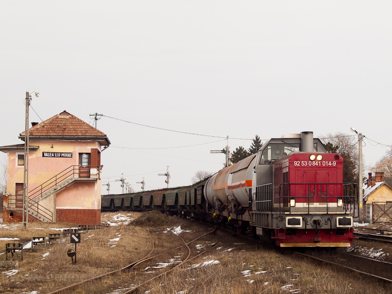 The CFR MARFA 92 53 0841 014-9 seen shunting at Érmihályfalva (Valea lui Mihai, Romania) photo