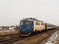 The CFR Sulzer no. 60-1400-5 seen at Érmihályfalva station (Valea lui Mihai, Romania)