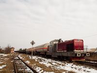 A CFR MARFA 92 53 0841 014-9 pályaszámú tehervonati mozdonya rendezkedik Érmihályfalva állomáson (Valea lui Mihai, Románia)