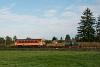 A MÁV-START 117  281 Lenti és Csömödér-Páka, illetve a Csömödéri Erdei Vasút C50-405 Iklódbördőcei temető és Csömödér ÁEV között egy tehervonattal, együttállásban
