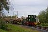 A Csömödéri Erdei Vasút 8235 409-0 tehervonattal Bázakerettye alsó állomáson