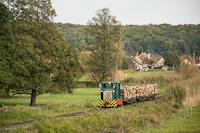 A Csömödéri Erdei Vasút C50 405 tehervonattal Kányavár és Dömefölde között