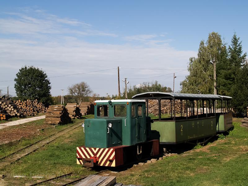 A Mesztegnyői Erdei Vasút egyik C50-ese a mesztegnyői fatelepen fotó