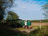 A Mesztegnyői Erdei Vasút C50-ese által vontatott szerelvény a kisvasúton