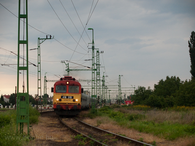 The MÁV-TR 418 315 seen at  photo
