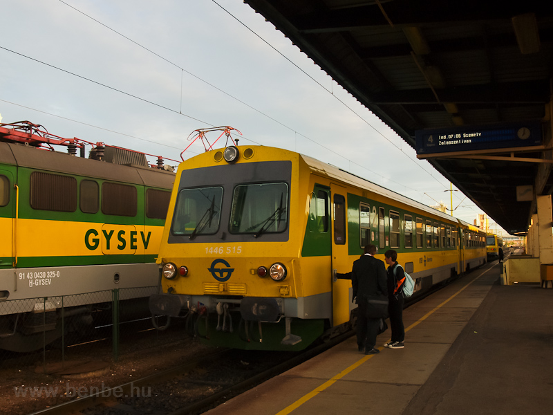 The GYSEV 1446 515 seen at  photo
