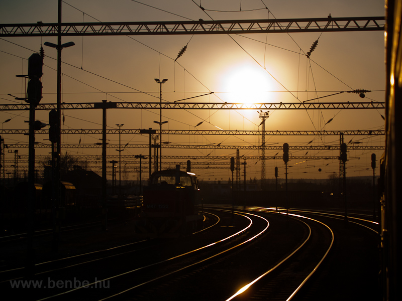 I always pass through Várpalota station at sunrise or sunset and I just love it photo