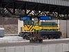 A GYSEV 448 311 Sopron állomáson a fűtőház előtt már új zárjelző tárcsákkal pózol