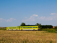 The GYSEV 1446 517 seen between Kőszeg and Kőszegfalva