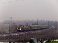The MÁV-START 470 504 <q>140 years GYSEV/Raaberbahn</q> seen between Balffürd&#337; and Sopron
