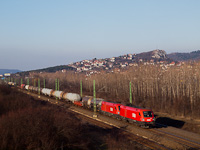 The ÖBB 1116 054 and 1116 075 seen between Törökbálint and Budaörs