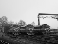 A MÁV-Nosztalgia kft. M61 020, a NoHAB-GM alapítvány M61,010 és a MÁV-PMLI 2761 017 Tapolca állomáson