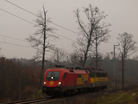 The GYSEV 1116 058 seen between Ják-Balogunyom and Egyházasrádóc
