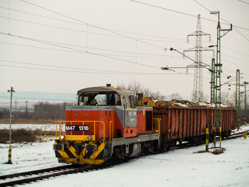 The MÁV-TR M47 1316 seen at photo