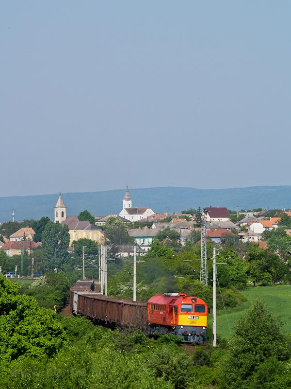 A MÁV-TR M62 224 Hajmáskér és Hajmáskér-Újtelep között fotó