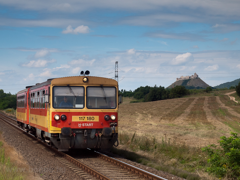 The MÁV-START 117 180 seen between Sümeg and Sümegi Bazaltbánya photo