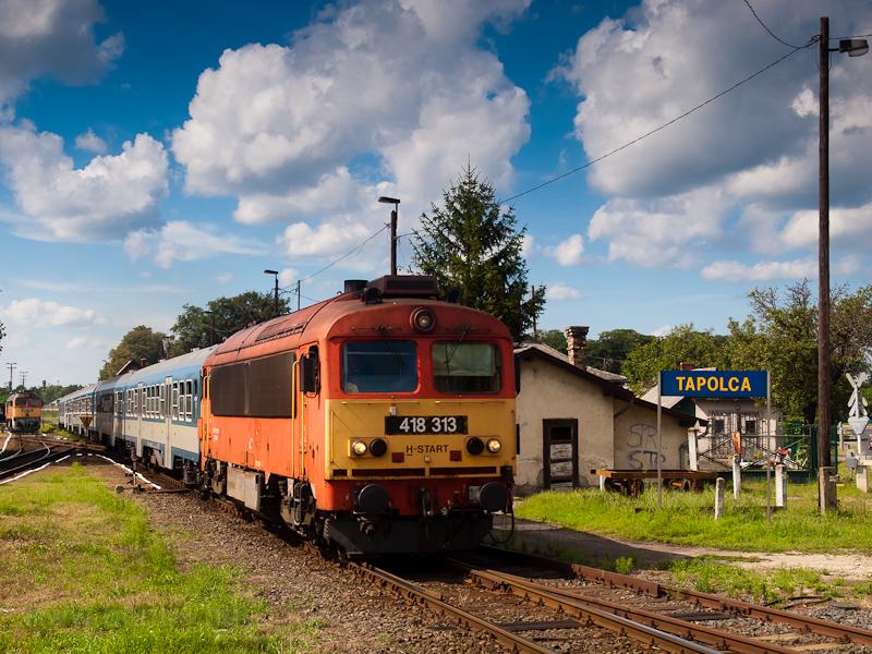 A MÁV-START 418 313 Tapolca állomáson fotó