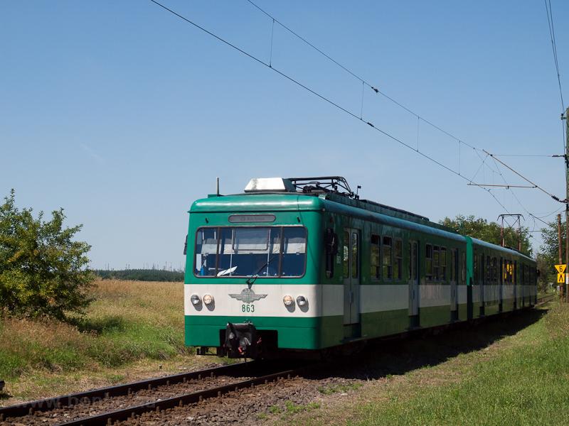A BHÉV MX 863 Szigetcsép és Szigetszentmárton-Szigetújfalu között fotó