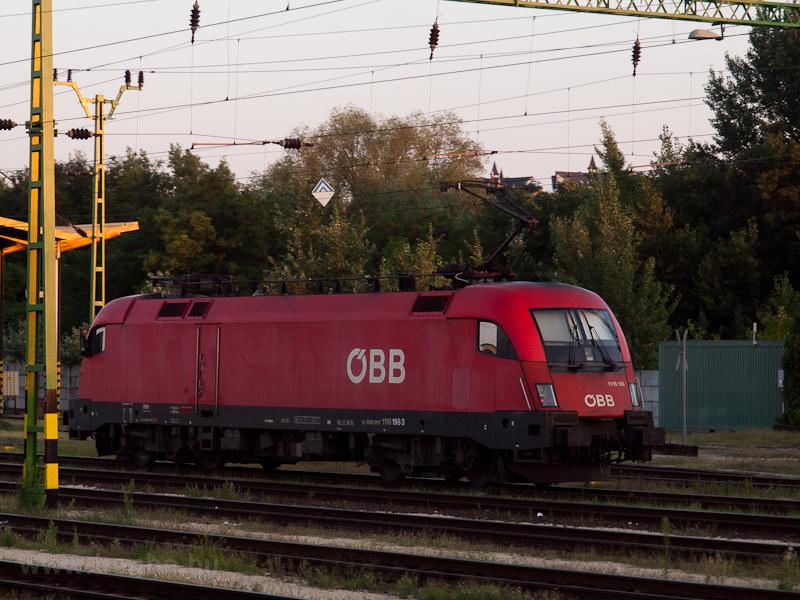 Az ÖBB 1116 198-3 Sopron állomáson fotó