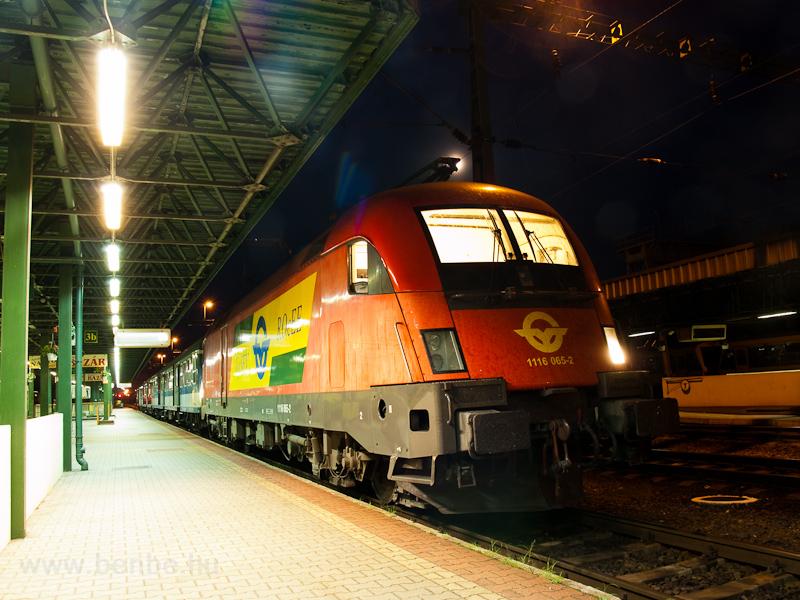 A GYSEV 1116 065-2 Sopron állomáson fotó