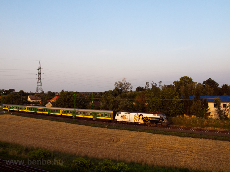 The GYSEV 470 501  Sisi  seen between Szombathely-Szőlős and Szombathely photo