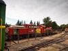 A MÁV-START Mk48 2003 és az Mk48 2022 Balatonfenyves állomáson