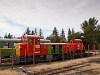 A MÁV-START Mk48 2022 és Mk48 2013 Balatonfenyves állomáson
