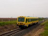 The GYSEV 5047 501 seen between Ágfalva and Lépesfalva-Somfalva