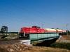 A DB Schenker 0469 107-4 Csánig és Répcelak között a Répce hídon