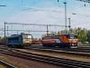 A MÁV V63 029 és az MMV 040 0628-8 Dunaújváros állomáson