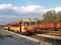 A MÁV Bzmot 321 Paks állomáson