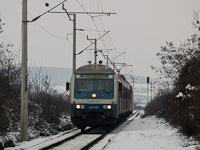 The MÁV-START Bybdtee 019 seen between Herend and Márkó