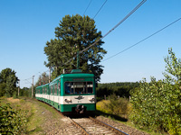 The BHÉV MX 873 seen between Szigetszentmárton-Szigetújfalu and Horgásztanyák