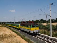 A GYSEV V43 329 Ják-Balogunyom és Egyházasrádóc között