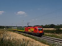 The GYSEV 1116 063-7 seen between Ják-Balogunyom and Egyházasrádóc