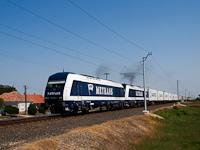 A METRANS 761 004-1 Maersk intermodális konténervonattal Csánig és Répcelak között