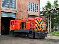Az ISD Dunaferr A23 057 a fűtőházban