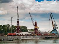 A MÁV-TR M62 231 Dunaújváros-Kikötő állomáson