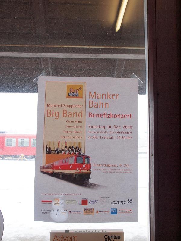 Jótékonysági koncert hirdetése a manki vonalért fotó