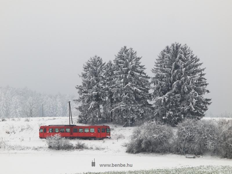 Az ÖBB 5090 007-5 pályaszámú 760 mm nyomközű motorkocsija Ober Grafendorfnál fotó