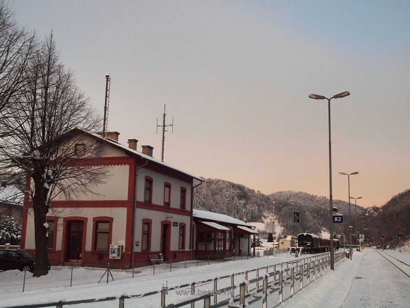 Traisen állomás - az elkerített sávon a kerekesszékesek közlekedhetnek biztonságosan fotó