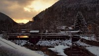Sunset at the dam near Freiland, Nieder�sterreich