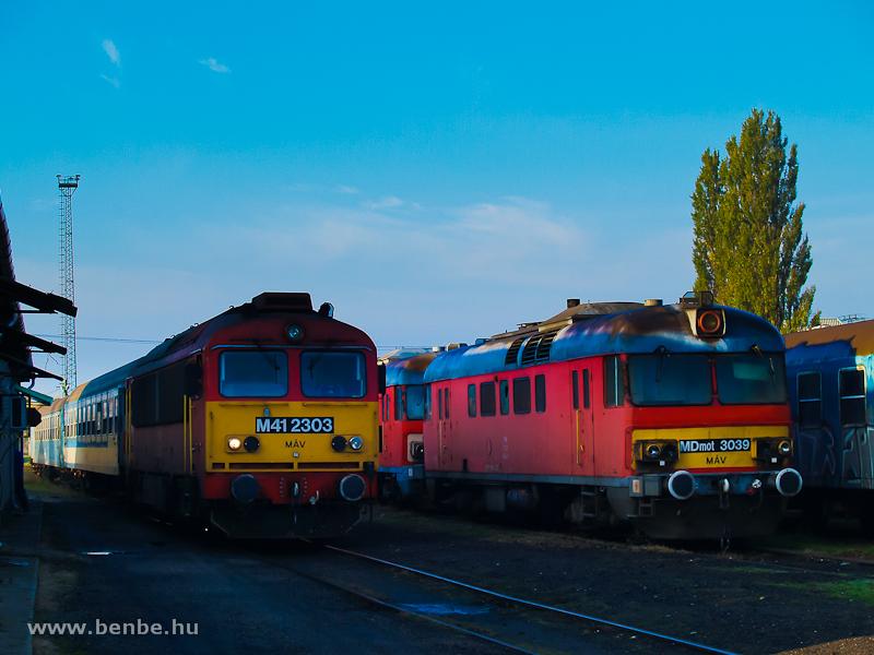 M41 2303 és MDmot 3039 Sátoraljaújhelyen fotó