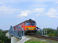 The Btx 032 on the iron bridge of the Beretty� river near Pocsaj-Eszt�r