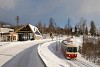 A ŽSSK EMU 89 0009 Szikraház és Tátraotthon között a Slovnaft benzinkútjánál