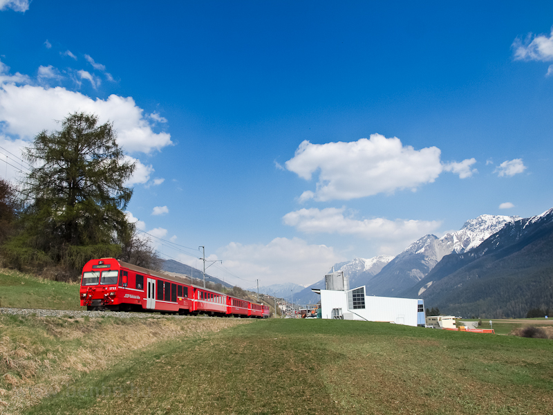 The RhB driving trailer BDt 1753 at Scuol-Tarasp station photo