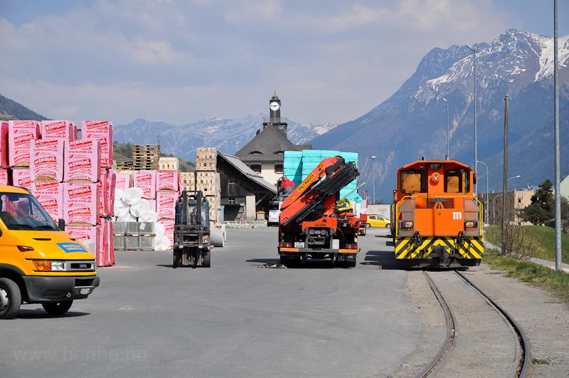 Az RhB Tm 2/2 111 Scuol-Tarasp állomáson fotó