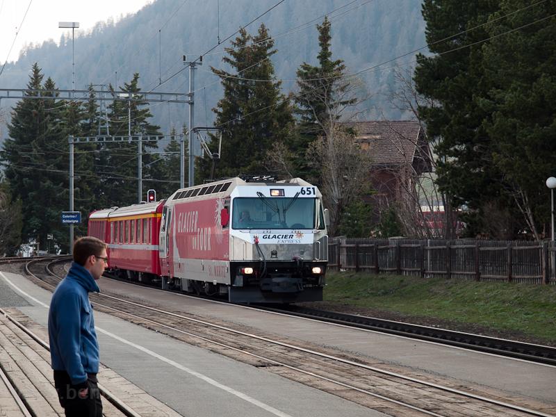 A Ge 4/4 III  651 Celerina/Schlarigna állomáson fotó
