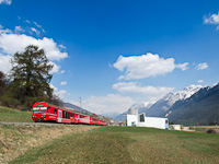 The RhB driving trailer BDt 1753 at Scuol-Tarasp station