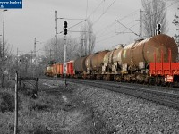 A freight train before Kelenf�ld